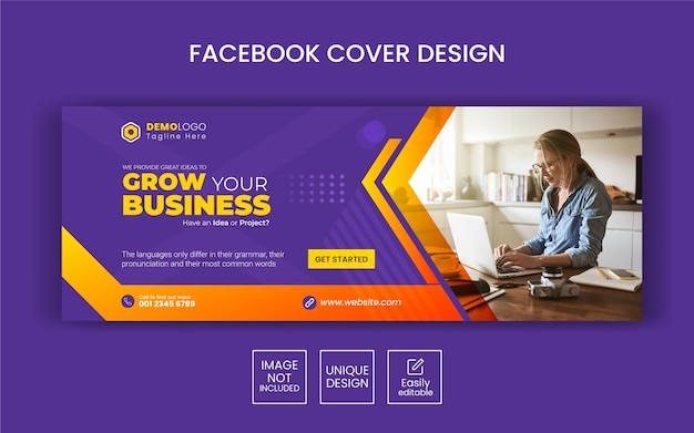 Kreative business social media banner vorlage mit facebook cover design