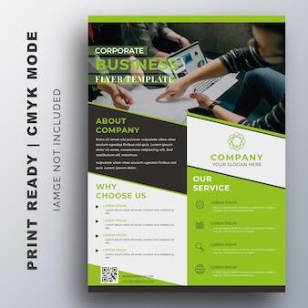 Kreative corporate flyer design-vorlage