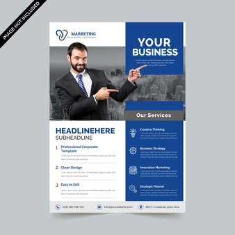Kreative corporate flyer vorlage
