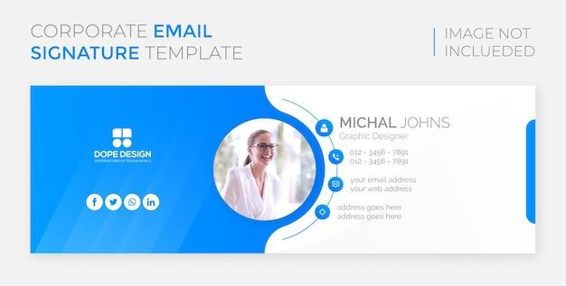 Kreative corporate modern e-mail-signaturvorlage design premium-vorlage vektor