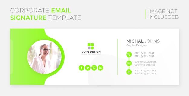 Kreative corporate yellow e-mail-signaturvorlage design premium-vorlage vektor