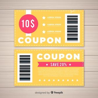 Kreative coupon vorlage für den verkauf