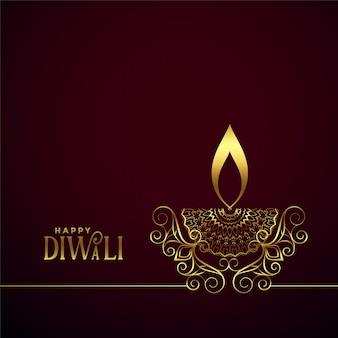 Kreative dekorative goldene lampe diwali diya