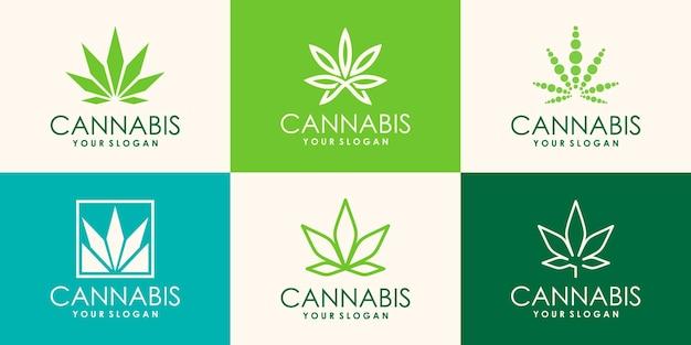 Kreative designvorlage für medizinisches cannabis für die gesundheit von marihuana
