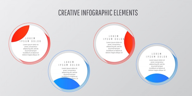 Kreative digitale illustration infografik workflow-layout.