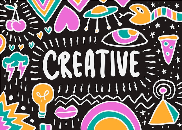 Kreative doodle-abbildung