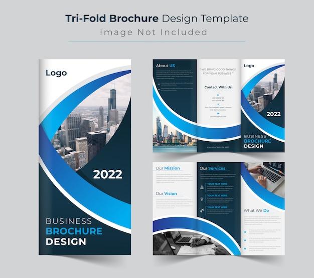 Kreative dreifach gefaltete broschürenvorlage