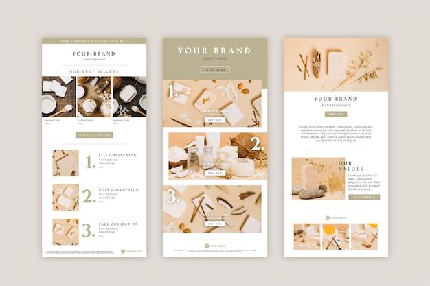 Kreative e-commerce-e-mail-vorlage mit fotosammlung