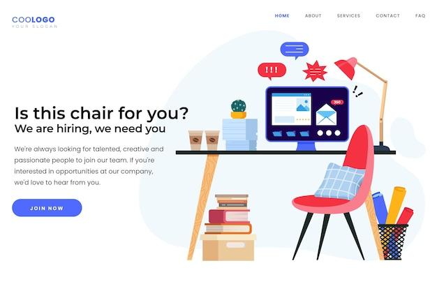 Kreative einstellungswebseite