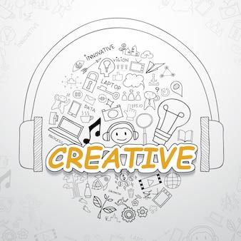 Kreative elemente sammlung