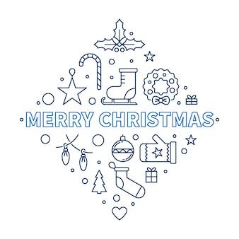 Kreative entwurfsillustration der frohen weihnachten