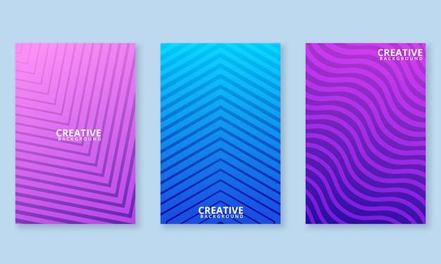 Kreative farbenfrohe minimalistische cover.