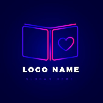 Kreative farbverlaufsbuch-logo-vorlage