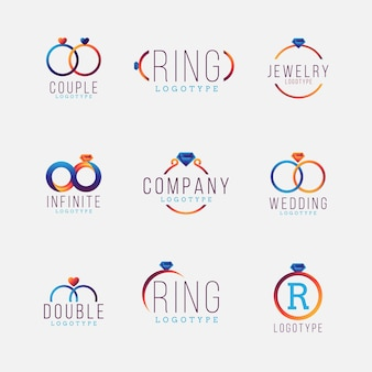 Kreative farbverlaufsring-logo-vorlagen