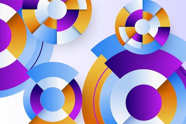 Kreative farbverlaufstapete mit geometrischen formen