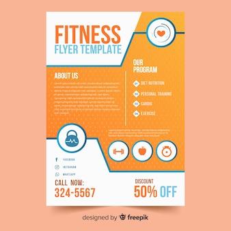 Kreative fitness flyer vorlage