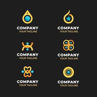 Kreative flache design ring logo vorlagen