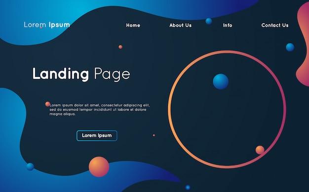 Kreative flüssige design-landingpage-webvorlage