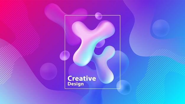 Kreative flüssigkeit formt zusammensetzungstapete