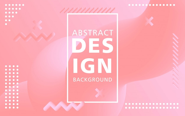 Kreative flussform des modernen designs 3d. rosa flüssige wellenhintergründe.