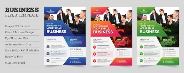 Kreative flyer-vorlage für das firmengeschäft