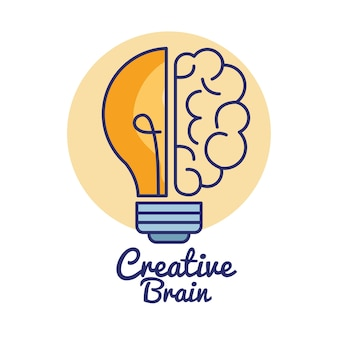 Kreative gehirn-konzept-symbol