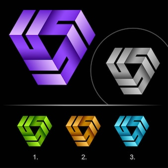 Kreative geloopte logo business abstrakte designvorlage