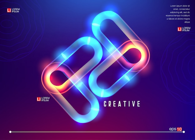 Kreative geometrische tapete