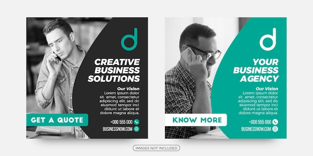 Kreative geschäftslösungen social media post-vorlagen