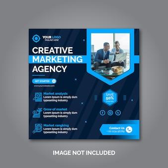 Kreative geschäftsmarketing social media post vorlage