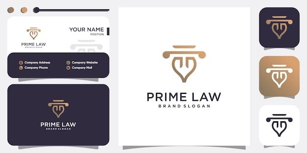 Kreative gesetz logo vorlage premium vektoren