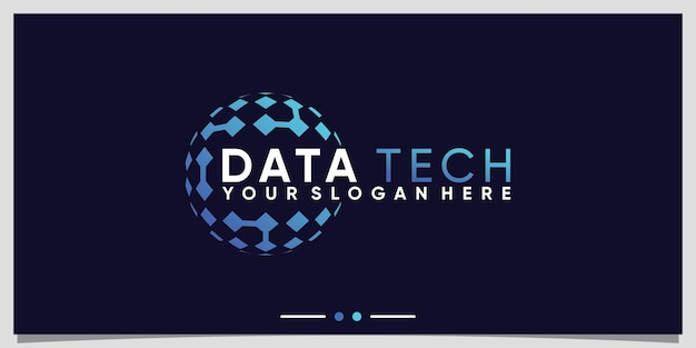 Kreative globustechnologie-logo-designschablone mit modernem stilkonzept premium-vektor
