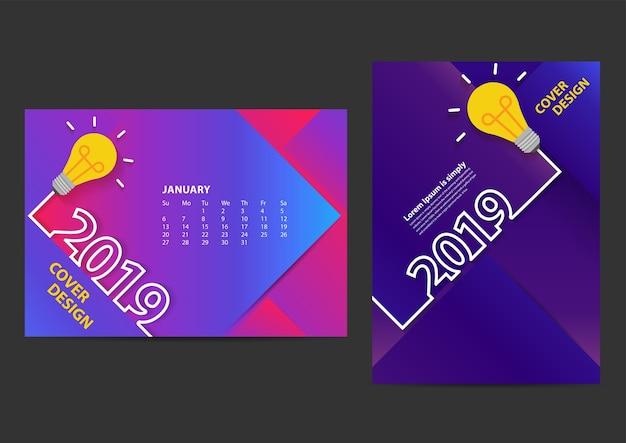 Kreative glühbirne ideen 2019 neujahr entwurfsvorlage
