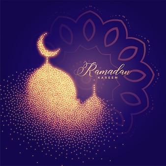 Kreative glühende moschee