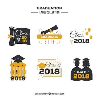 Kreative graduierung abzeichen sammlung