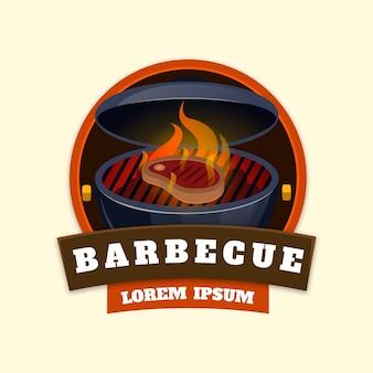 Kreative grill-logo-vorlage