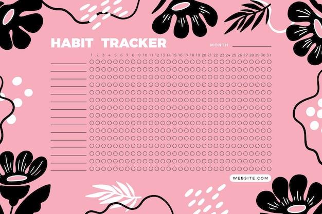 Kreative habit tracker vorlage Kostenlosen Vektoren