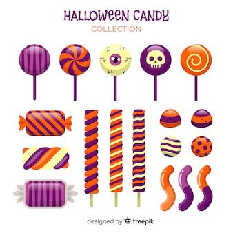 Kreative halloween-süßigkeitsammlung