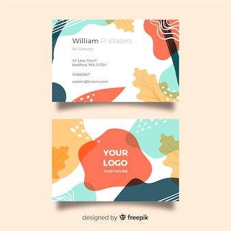 Kreative handgemalte visitenkarte
