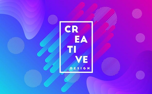 Kreative hintergrund mit farbverlauf