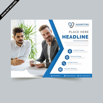 Kreative horizontale flyer vorlage premium-vektor
