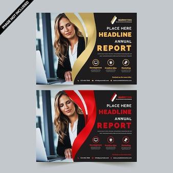 Kreative horizontale flyer vorlage
