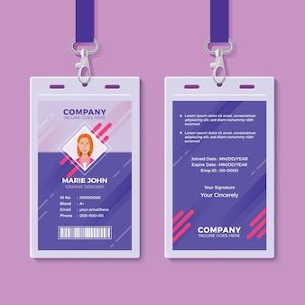Kreative id card design-vorlage