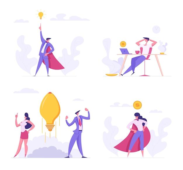 Kreative idee flache illustration