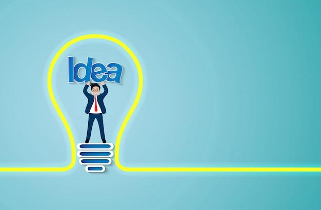 Kreative idee glühbirne symbol
