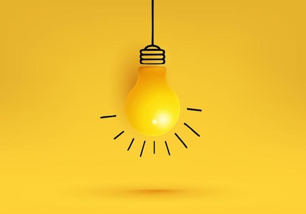 Kreative idee, inspiration, mit glühbirne.