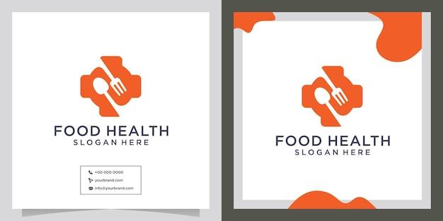 Kreative ideen für ein gesundes restaurantlogo
