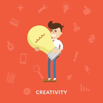 Kreative ideen geschäftskonzept