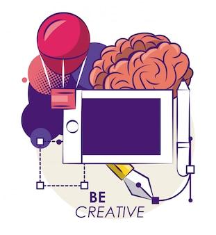 Kreative ideen und farben