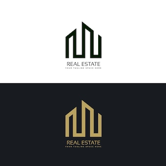 Kreative immobilien-business-logo-design-vorlage